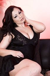 Aria Giovanni in a Little Black Dress